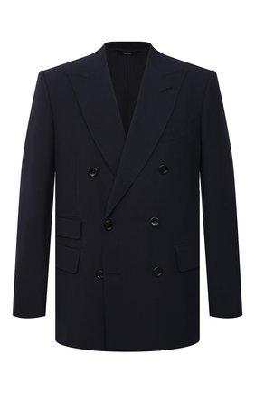 Мужской шерстяной пиджак TOM FORD темно-синего цвета, арт. 922R76/11ED40 | Фото 1