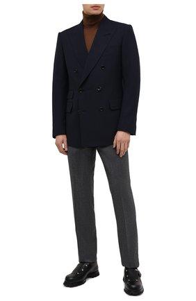 Мужской шерстяной пиджак TOM FORD темно-синего цвета, арт. 922R76/11ED40 | Фото 2