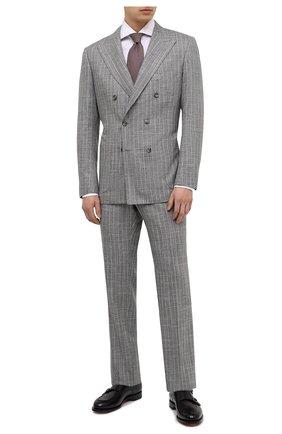 Мужской костюм из кашемира и шерсти KITON серого цвета, арт. UA85K06T11 | Фото 1