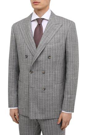 Мужской костюм из кашемира и шерсти KITON серого цвета, арт. UA85K06T11 | Фото 2