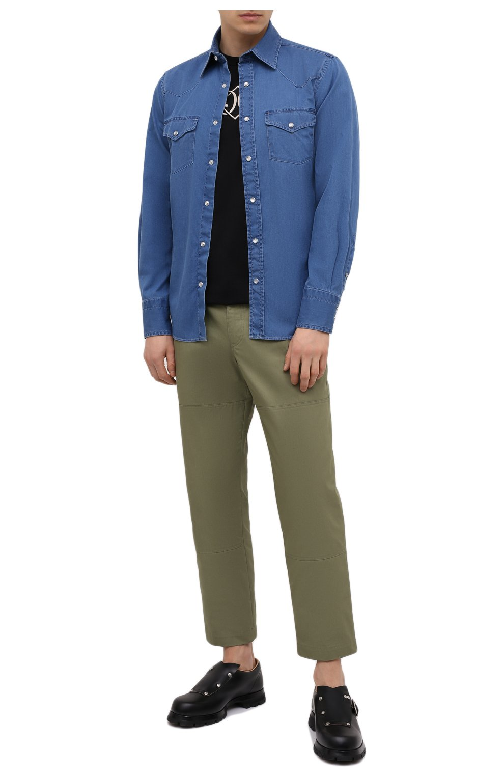 Мужская джинсовая рубашка TOM FORD синего цвета, арт. 9FT460/94MEKI   Фото 2