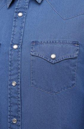 Мужская джинсовая рубашка TOM FORD синего цвета, арт. 9FT460/94MEKI   Фото 5