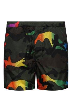 Мужские плавки-шорты VALENTINO хаки цвета, арт. VV3UH028721   Фото 1