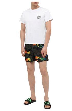 Мужские плавки-шорты VALENTINO хаки цвета, арт. VV3UH028721   Фото 2