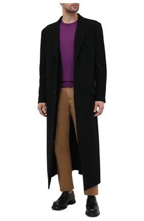 Мужской шерстяной джемпер DOLCE & GABBANA фиолетового цвета, арт. GXA63T/JAVWD | Фото 2