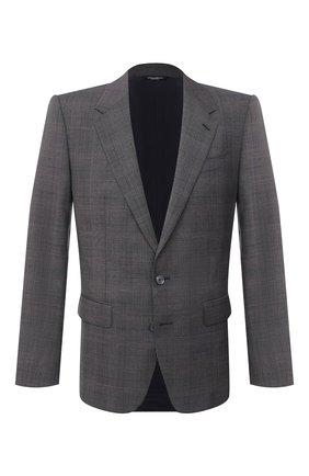 Мужской шерстяной пиджак DOLCE & GABBANA светло-серого цвета, арт. G2PE8T/FQ2LQ | Фото 1