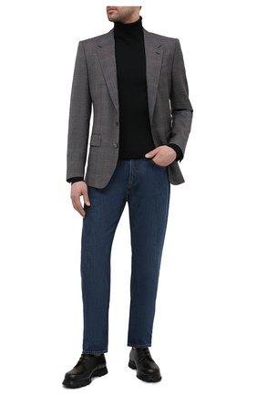 Мужской шерстяной пиджак DOLCE & GABBANA светло-серого цвета, арт. G2PE8T/FQ2LQ | Фото 2