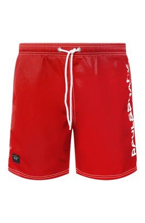 Мужские плавки-шорты PAUL&SHARK красного цвета, арт. C0P5002/FH4 | Фото 1