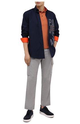 Мужская комплект из рубашки и маски PAUL&SHARK темно-синего цвета, арт. 21413494/C00 | Фото 2