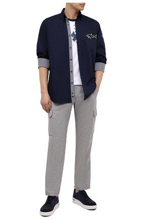 Мужская комплект из рубашки и маски PAUL&SHARK темно-синего цвета, арт. 21413464/C00   Фото 2