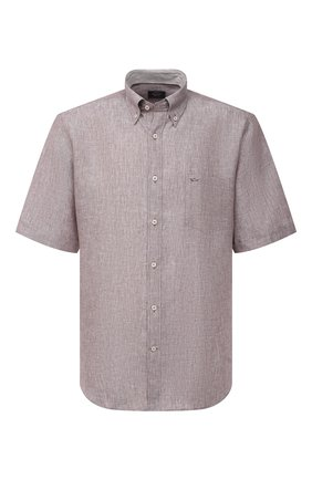 Мужская льняная рубашка PAUL&SHARK бежевого цвета, арт. 21413109/F7E | Фото 1