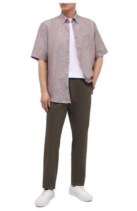 Мужская льняная рубашка PAUL&SHARK бежевого цвета, арт. 21413109/F7E | Фото 2