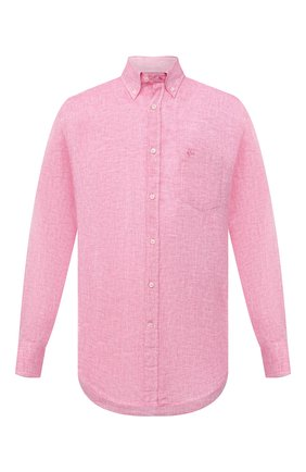 Мужская льняная рубашка PAUL&SHARK розового цвета, арт. 21413108/F7E | Фото 1