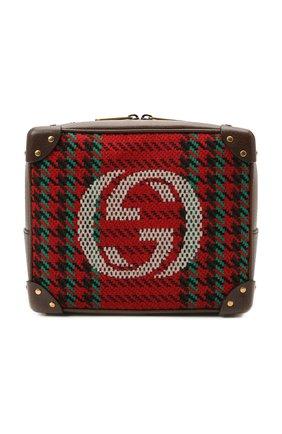 Мужская комбинированная сумка GUCCI красного цвета, арт. 626363/2J9CT | Фото 1