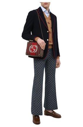 Мужская комбинированная сумка GUCCI красного цвета, арт. 626363/2J9CT | Фото 2