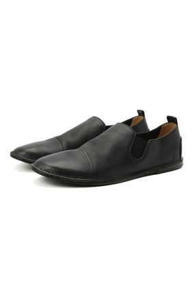 Мужские кожаные слиперы MARSELL черного цвета, арт. MM1450/PELLE V0L0NATA | Фото 1