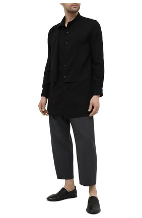 Мужские кожаные слиперы MARSELL черного цвета, арт. MM1450/PELLE V0L0NATA | Фото 2