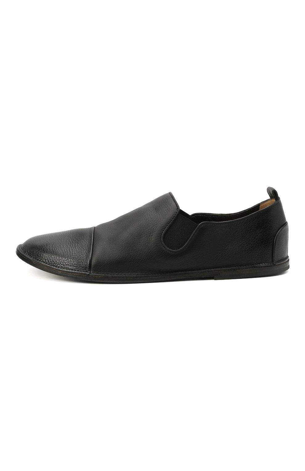Мужские кожаные слиперы MARSELL черного цвета, арт. MM1450/PELLE V0L0NATA | Фото 3