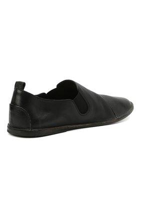 Мужские кожаные слиперы MARSELL черного цвета, арт. MM1450/PELLE V0L0NATA | Фото 4