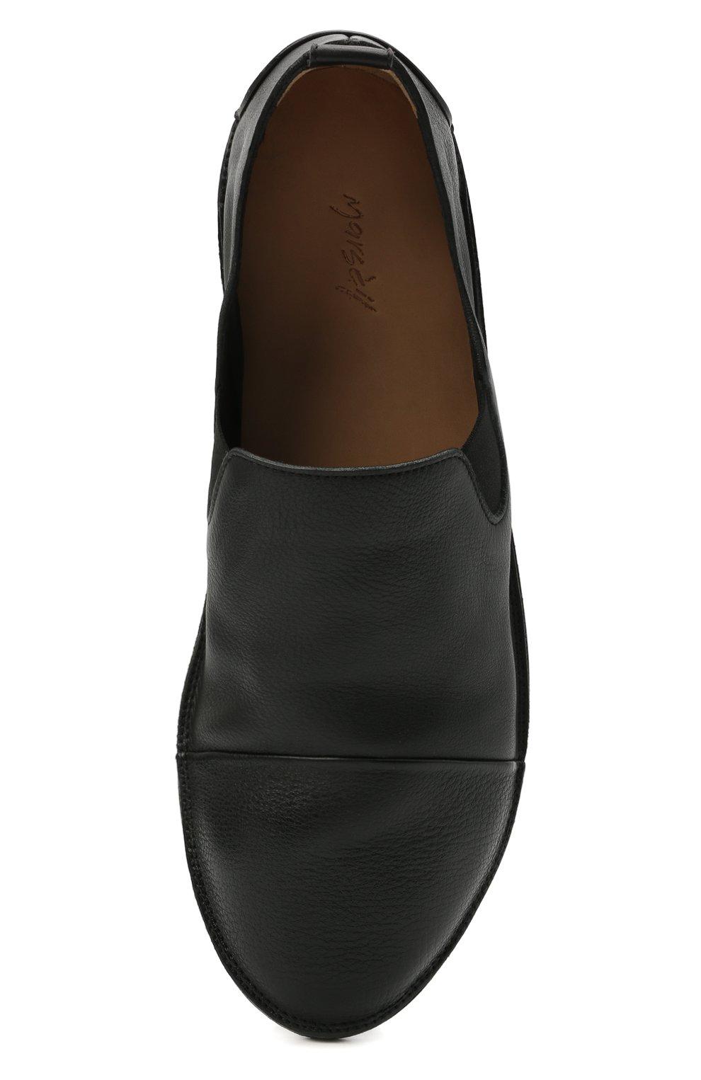Мужские кожаные слиперы MARSELL черного цвета, арт. MM1450/PELLE V0L0NATA | Фото 5
