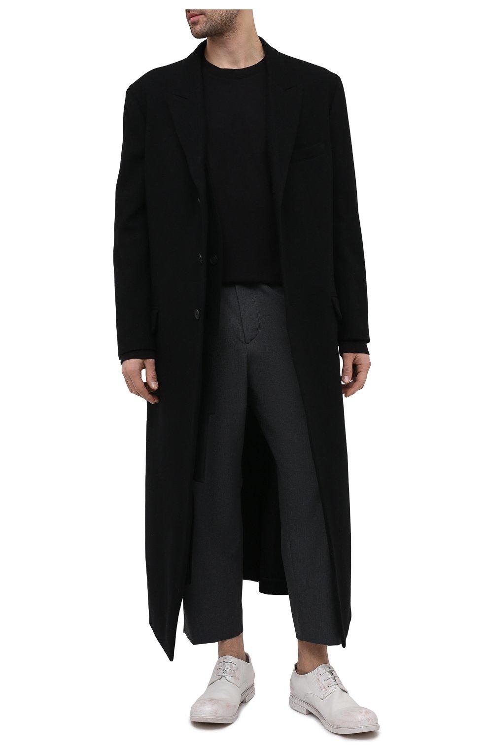 Мужские кожаные дерби MARSELL белого цвета, арт. MM2443/PELLE CERATA | Фото 2 (Материал внутренний: Натуральная кожа; Стили: Классический)