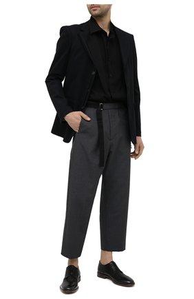 Мужские кожаные дерби MOMA черного цвета, арт. 2AS019-S0 | Фото 2
