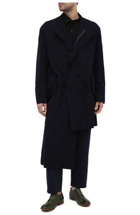 Мужские кожаные дерби MOMA темно-зеленого цвета, арт. 2AS120-S0   Фото 2