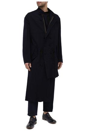 Мужские кожаные дерби MOMA темно-синего цвета, арт. 2AS120-S0 | Фото 2