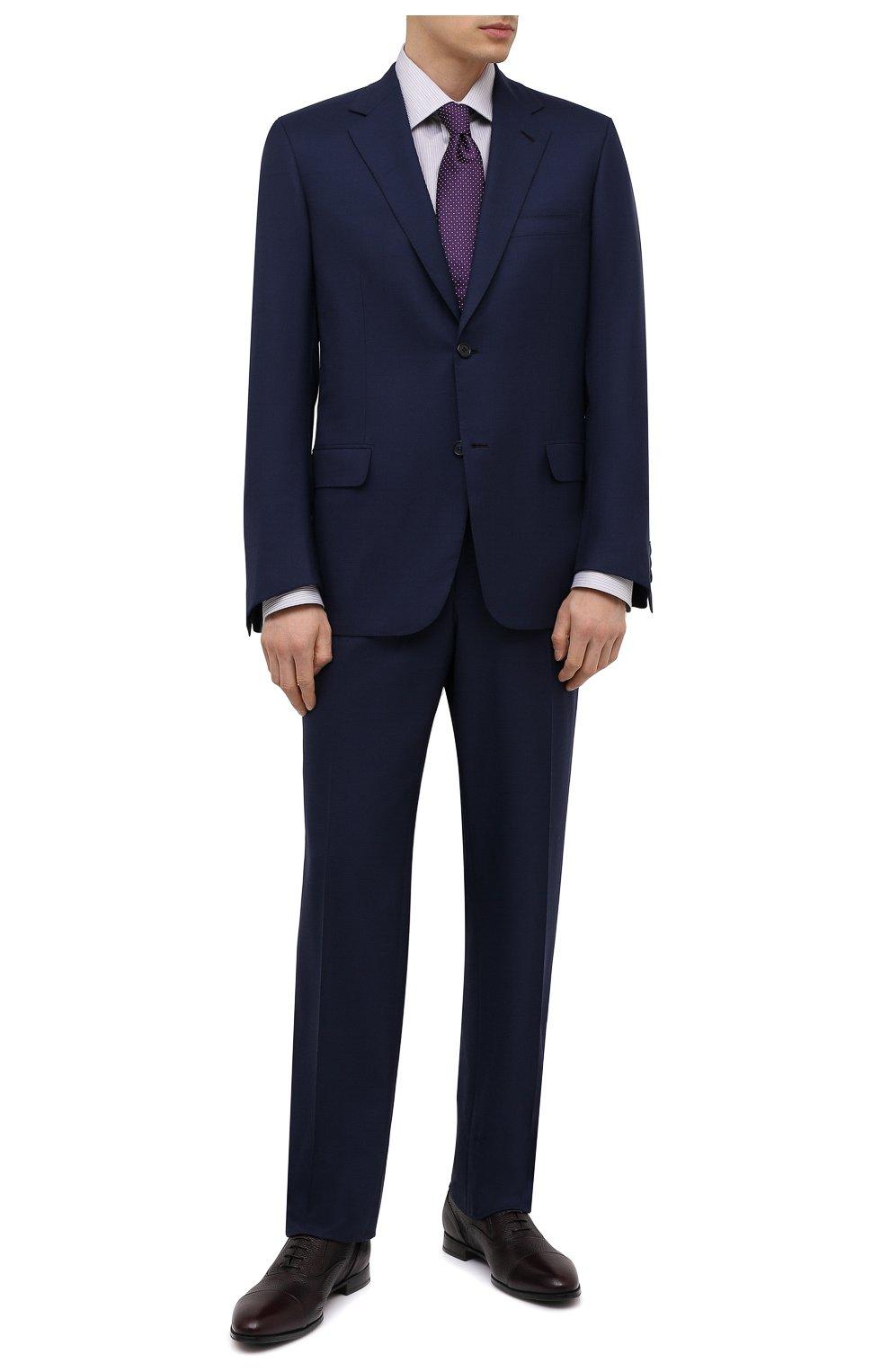 Мужские кожаные оксфорды BARRETT бордового цвета, арт. B112U032.7/CERV0 ASP0RTABILE | Фото 2 (Материал внутренний: Натуральная кожа; Стили: Классический)