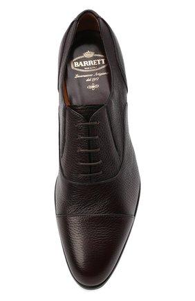 Мужские кожаные оксфорды BARRETT бордового цвета, арт. B112U032.7/CERV0 ASP0RTABILE | Фото 5 (Материал внутренний: Натуральная кожа; Стили: Классический)