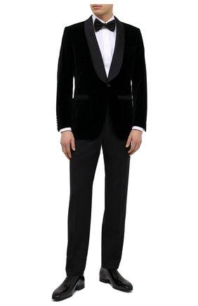 Мужские шерстяные брюки BRIONI черного цвета, арт. RQSB0L/09A25/THETA | Фото 2