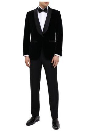 Мужской хлопковый пиджак BRIONI черного цвета, арт. REQJ0M/P0041/VIRGILI0 | Фото 2