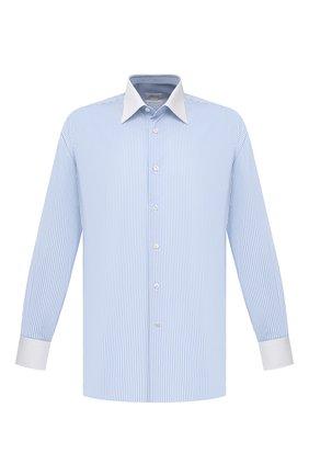 Мужская хлопковая сорочка BRIONI голубого цвета, арт. RCBD0M/P004T | Фото 1
