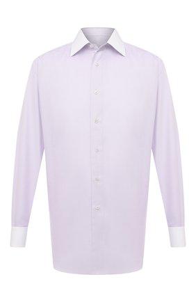 Мужская сорочка из хлопка и шелка BRIONI сиреневого цвета, арт. RCA20N/P007Y | Фото 1
