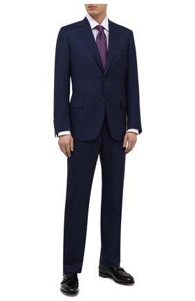 Мужская сорочка из хлопка и шелка BRIONI сиреневого цвета, арт. RCA20N/P007Y | Фото 2