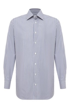 Мужская хлопковая сорочка BRIONI синего цвета, арт. RCA20L/P005H | Фото 1