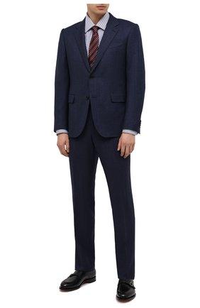 Мужская хлопковая сорочка BRIONI синего цвета, арт. RCA20L/P005H | Фото 2