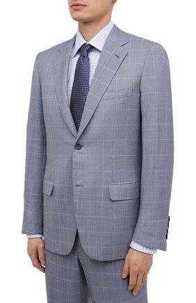 Мужской шерстяной костюм BRIONI светло-серого цвета, арт. RAH00L/P0A1W/PARLAMENT0 | Фото 2
