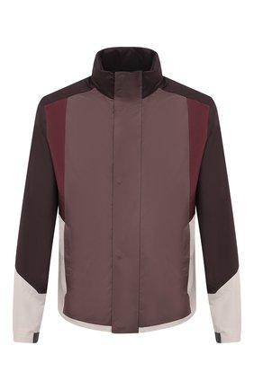 Мужская куртка Z ZEGNA коричневого цвета, арт. VW050/ZZ043 | Фото 1 (Рукава: Длинные; Материал внешний: Синтетический материал; Кросс-КТ: Ветровка, Куртка; Материал подклада: Синтетический материал; Длина (верхняя одежда): Короткие; Стили: Кэжуэл)