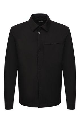 Мужская утепленная куртка Z ZEGNA черного цвета, арт. VW037/ZZ002 | Фото 1