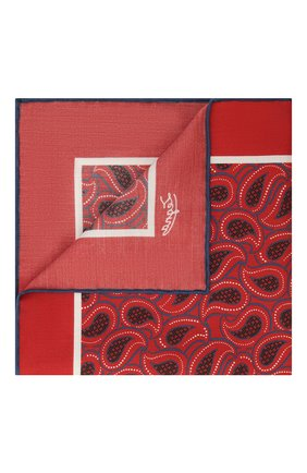 Мужской платок из хлопка и шелка ERMENEGILDO ZEGNA бордового цвета, арт. Z9J22/38B | Фото 1