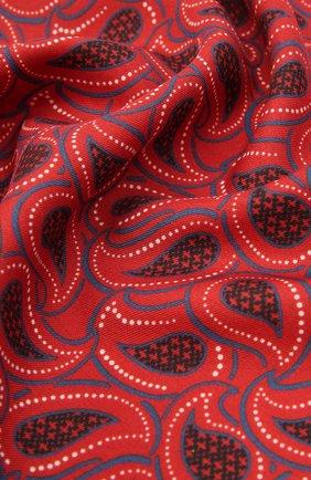Мужской платок из хлопка и шелка ERMENEGILDO ZEGNA бордового цвета, арт. Z9J22/38B | Фото 2