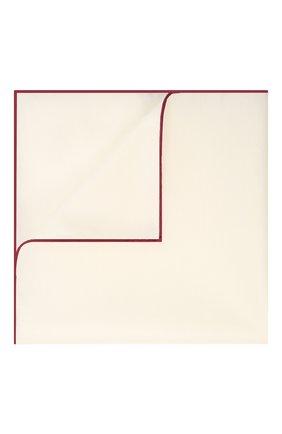Мужской платок из хлопка и шелка ERMENEGILDO ZEGNA белого цвета, арт. Z9J18/38B | Фото 1
