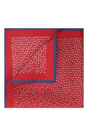 Мужской шелковый платок ERMENEGILDO ZEGNA бордового цвета, арт. Z9J00/39A | Фото 1