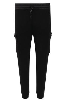 Мужские хлопковые джоггеры Z ZEGNA черного цвета, арт. VW458/ZZP33 | Фото 1 (Материал внешний: Хлопок; Стили: Спорт-шик; Силуэт М (брюки): Джоггеры; Длина (брюки, джинсы): Стандартные; Мужское Кросс-КТ: Брюки-трикотаж)