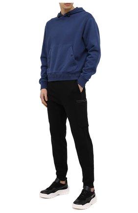 Мужские хлопковые джоггеры Z ZEGNA черного цвета, арт. VW458/ZZP33 | Фото 2 (Материал внешний: Хлопок; Стили: Спорт-шик; Силуэт М (брюки): Джоггеры; Длина (брюки, джинсы): Стандартные; Мужское Кросс-КТ: Брюки-трикотаж)