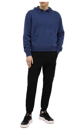 Мужской хлопковое худи Z ZEGNA синего цвета, арт. VW429/ZZ866 | Фото 2