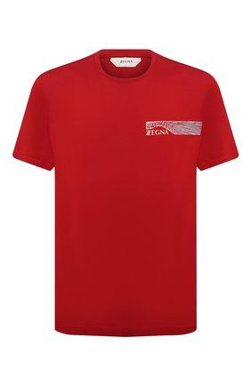Мужская хлопковая футболка Z ZEGNA красного цвета, арт. VW372/ZZ630E | Фото 1