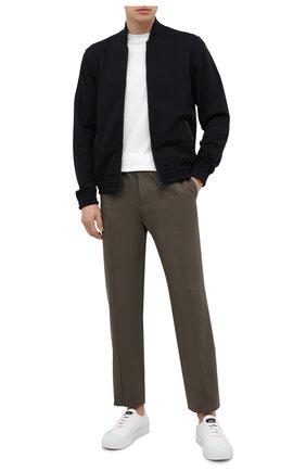 Мужская хлопковая футболка Z ZEGNA белого цвета, арт. VW372/ZZ630E | Фото 2 (Рукава: Короткие; Принт: С принтом; Стили: Кэжуэл; Длина (для топов): Стандартные; Материал внешний: Хлопок)