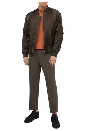 Мужское хлопковое поло Z ZEGNA оранжевого цвета, арт. VW360/ZZ661 | Фото 2 (Стили: Кэжуэл; Материал внешний: Хлопок; Застежка: Пуговицы; Длина (для топов): Стандартные; Рукава: Короткие)